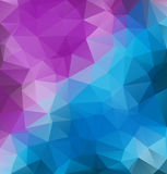 Low Poly triangular background for your flayer, brochure, poster background. Stock Images