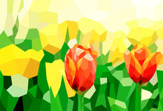 Low poly tulip Royalty Free Stock Photography