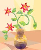 Low Poly Type Flower Arrangement Royalty Free Stock Photography