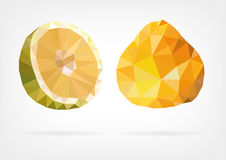 Low Poly Ugli fruit Royalty Free Stock Images