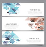 Low poly vector banners Stock Photos