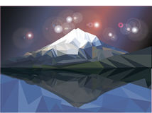 Low Poly Vector Mountain Royalty Free Stock Photography