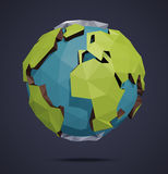 Low Poly Vector World Globe Royalty Free Stock Photography
