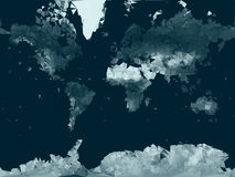 Low poly vector World  map. Royalty Free Stock Photography