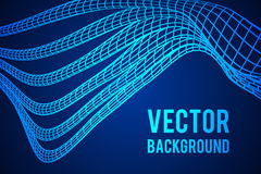 Low poly vein or wire wireframe mesh background. Scinece and tech vector illustration Royalty Free Stock Photo