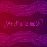Low poly vein or wire wireframe mesh background. Royalty Free Stock Image