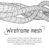 Low poly vein or wire wireframe mesh background. Royalty Free Stock Photography