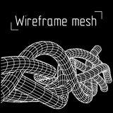 Low poly vein or wire wireframe mesh background. Stock Photos