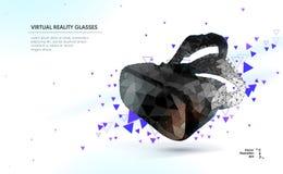Low poly virtual reality helmet Stock Photo