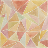 Low poly watercolor background. Abstract geometric watercolor background in indian style Stock Images