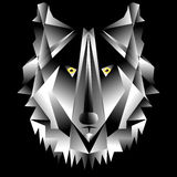 Low-Poly Wolf Royalty Free Stock Image