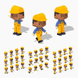 Low poly worker Stock Images