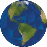 Low Poly World Globe Royalty Free Stock Photography
