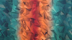 Low polygon animated background loop in fire and ice no wireframe royalty free illustration