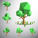 Low polygon 3D tree on land Royalty Free Stock Image