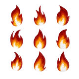Low Polygon Fire. Vector illustration of low polygonal fire elements Royalty Free Stock Photography
