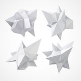 Low polygon geometry shape. Vector illustration Stock Photos