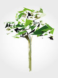 Low polygon green tree Royalty Free Stock Image