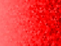 Low polygon mosaic graphic background with red theme Christmas theme.  Stock Photo