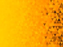 Low polygon mosaic graphic background with yellow theme Halloween theme.  Royalty Free Stock Image