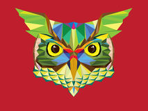 Low polygon Owl head in geometric pattern  illutration. Low polygon Owl head geometric pattern  illutration Royalty Free Stock Photo
