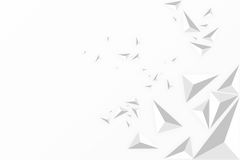 Low polygon triangle abstract white background. Royalty Free Stock Images