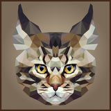 Low polygonal Cat. Abstract mosaic Low polygonal Cat animal vector illustration