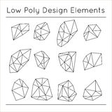 Low Polygonal Design Elements vector illustration