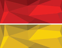 Low polygonal geometric vector set Royalty Free Stock Photos