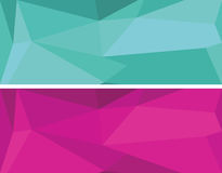 Low polygonal geometric vector set Royalty Free Stock Image
