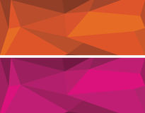 Low polygonal geometric vector set Royalty Free Stock Photography