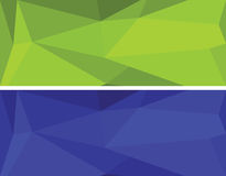 Low polygonal geometric vector set Stock Photo
