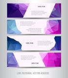 Low polygonal horizontal header Royalty Free Stock Images