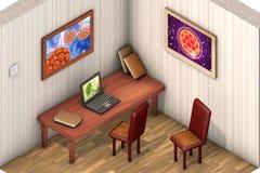 Low-polygonal isometric room Stock Photo