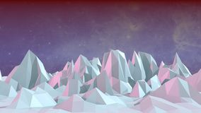 Low polygonal landscape Royalty Free Stock Image