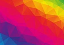Low polygonal rainbow (spectrum) background Royalty Free Stock Photography