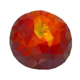 Low polygonal red peach isolated Royalty Free Stock Image
