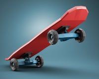 Low polygonal skateboard Royalty Free Stock Photo