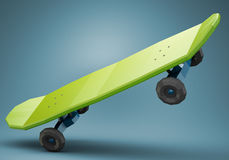 Low polygonal skateboard Stock Photography