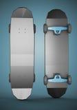 Low polygonal skateboard Stock Images