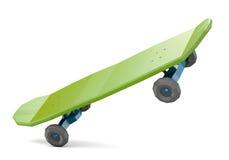 Low polygonal skateboard  on white background Royalty Free Stock Photo
