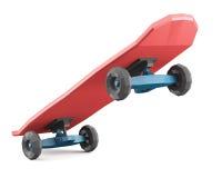 Low polygonal skateboard  on white background Stock Image