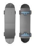 Low polygonal skateboards  on white background Stock Image