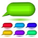 Low polygonal speech bubbles. Set of multicolored low polygonal speech bubbles with shadow Stock Photo