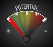 Low potential speedometer illustration Stock Images