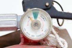 Low pressure gauge. Of fire extinguishers Stock Photos