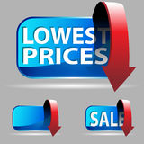 Low Price. An image of lowest prices sales buttons Stock Images