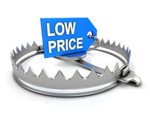 Low price danger. Low price on bear trap Stock Photography