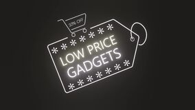Low price gadgets neon sign.