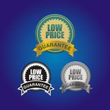 Low price guarantee badge Stock Image